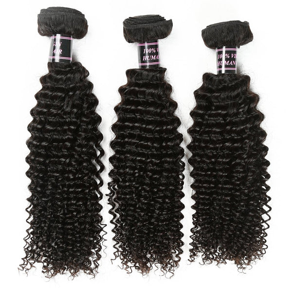 Easy Hair Malaysian Curly Hair Unprocessed Virgin Human Hair 3 Bundles Natural Color - Easy Hair