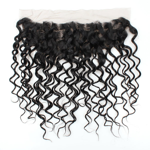 Easy Hair Water Wave Lace Frontal Indian Virgin Hair Water Wave 13x4 Ear To Ear Lace Frontal - Easy Hair