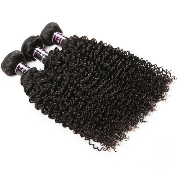 Easy Hair Hot Sell Peruvian Virgin Curly Human Hair Extensions 3pcs/lot - Easy Hair