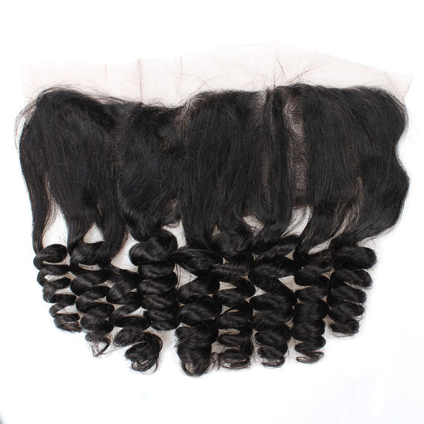 Allove Loose Wave Brazilian Virgin Hair 4 Bundles With 13x4 Lace Frontal Closure - Easy Hair