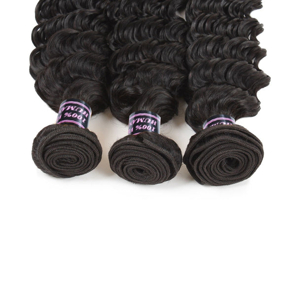 Easy Hair Brazilian Virgin Deep Wave Hair Bundles 4pcs/lot - Easy Hair