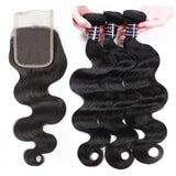 ishow brazilian body virgin human hair 3 bundles with 4 4 lace closure