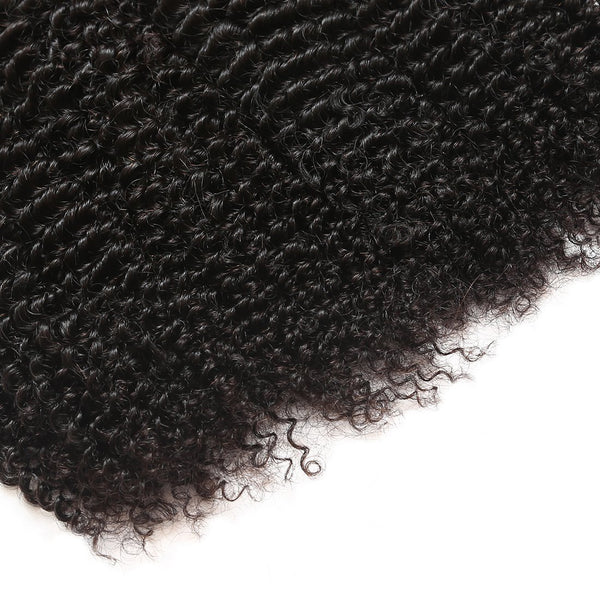 Allove Unprocessed Brazilian Kinky Curly Virgin Human Hair 4 Bundles Weave