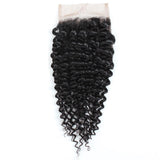 Peruvian Curly Lace Closure 4x4 Swiss Lace Closure Human Hair