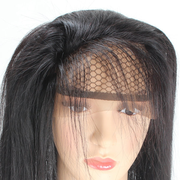 Easy Hair Peruvian Straight Human Hair 360 Lace Frontal Closure 1pc/lot - Easy Hair
