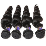 allove 4 bundles brazilian virgin hair loose wave human hair weave