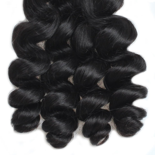 Ishow Hair Virgin Peruvian Loose Wave 4 Bundles Human Hair Weave - Easy Hair