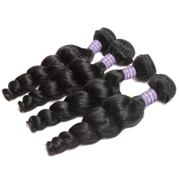 Easy Hair 10A High Quality 100% Unprocessed Virgin Indian Human Hair Loose Wave 4 Bundles - Easy Hair