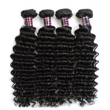 ishow hair malaysian deep wave virgin hair deep curly hair 4 pcs lot