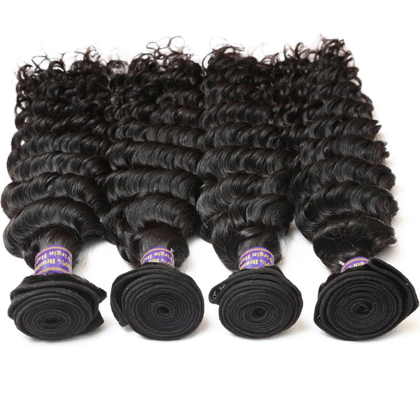 Easy Hair 10A High Quality Brazilian Unprocessed Virgin Human Hair Deep Wave 4 Bundles - Easy Hair
