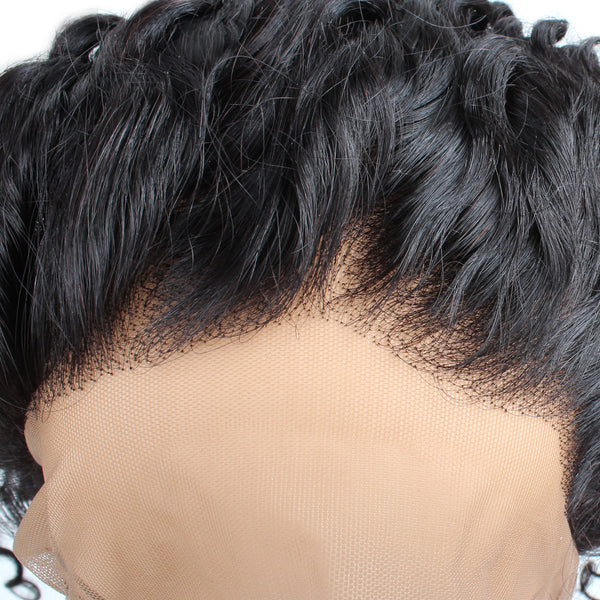 Malaysian Deep Wave Human Hair 360 Lace Frontal Closure 1pc/lot - Easy Hair