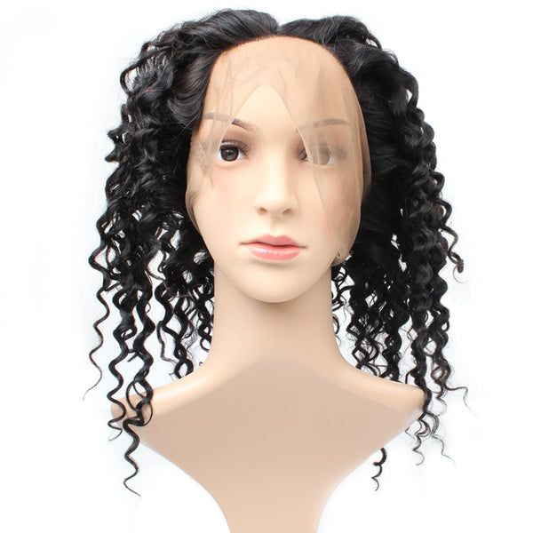 Easy Hair Indian Deep Wave 360 Lace Frontal Closure Human Hair Weave 1pc/lot - Easy Hair