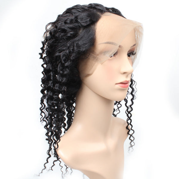 Brazilian Curly Human Hair 360 Lace Frontal Closure 1pc/lot - Easy Hair