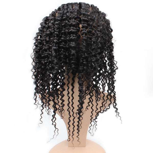 Easy Hair Peruvian Virgin Curly Human Hair 360 Lace Frontal Closure 1pc/lot - Easy Hair