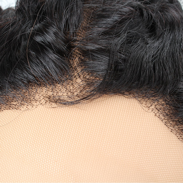 Easy Hair Indian Human Virgin Curly Hair Extension 360 Lace Frontal Closure - Easy Hair