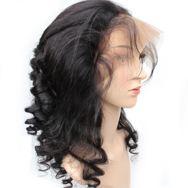 Easy Hair Virgin Peruvian Loose Wave Hair 360 Lace Frontal Closure 1pc/lot - Easy Hair