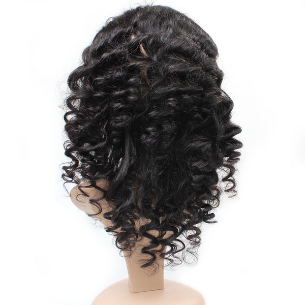 Easy Hair Virgin Indian Loose Wave Human Hair 360 Lace Frontal Closure 1pc/lot - Easy Hair
