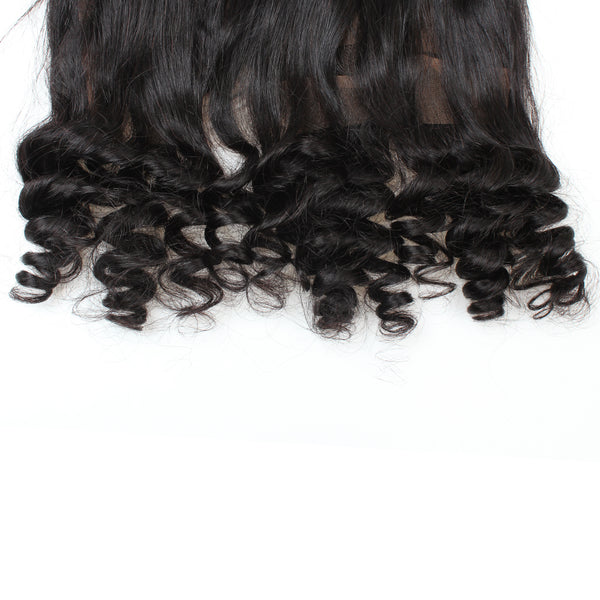 Virgin Peruvian Loose Wave Hair 360 Lace Frontal Closure 1pc/lot - Easy Hair