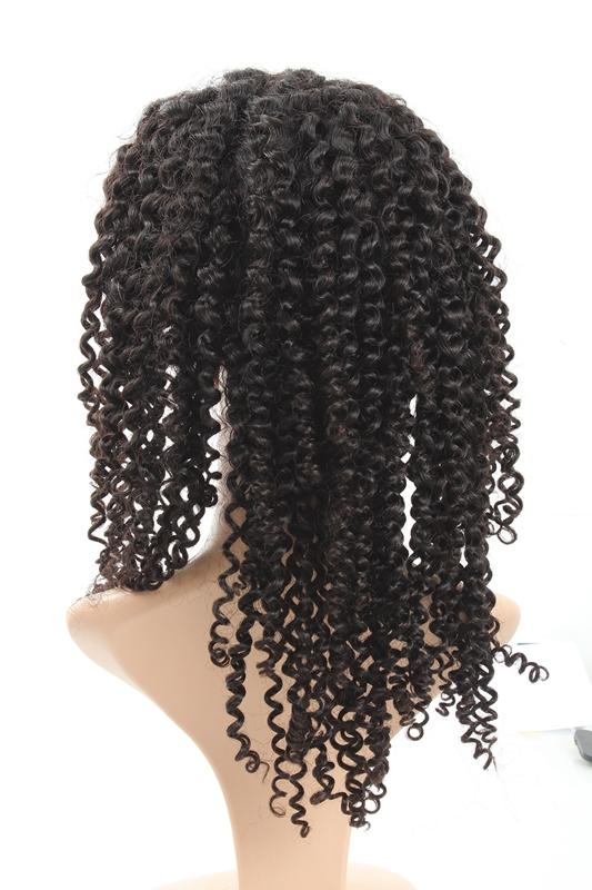 Easy Hair Peruvian Virgin Curly Human Hair Full Lace Wig 1pc/lot - Easy Hair