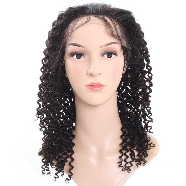 Easy Hair Indian Virgin Curly Human Hair Lace Front Wigs 1pc/lot - Easy Hair