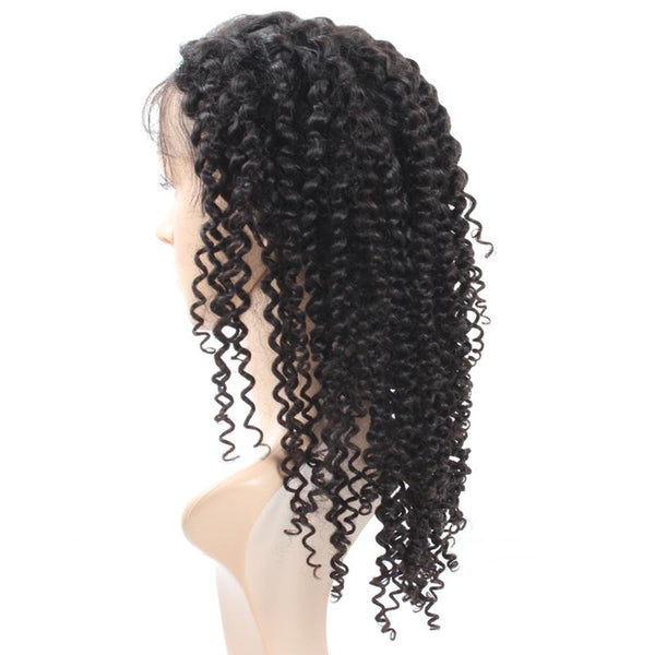 Easy Hair Malaysian Virgin Curly Human Hair Lace Front Wigs 1pc/lot - Easy Hair
