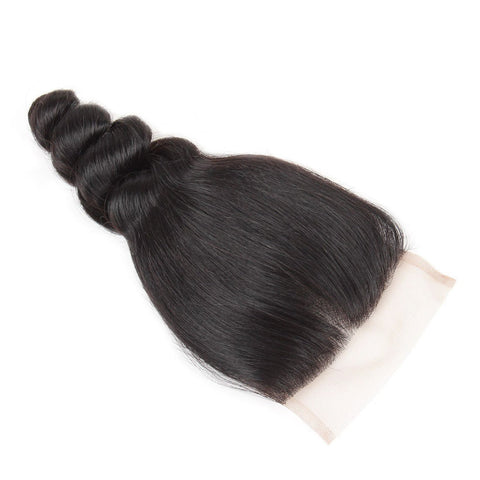 Malaysian Lace Closure 4x4 Loose Wave Human Hair Lace Closure