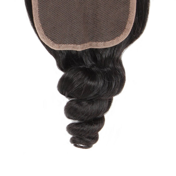 Ishow Malaysian Loose Wave Virgin Human Hair 4x4 Lace Closure Natural Color - Easy Hair