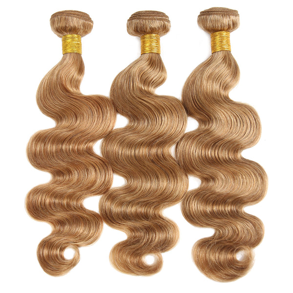 Easy Hair Body Wave Virgin Indian Human Hair 3 Bundles Ombre 30# Human Hair Weave - Easy Hair