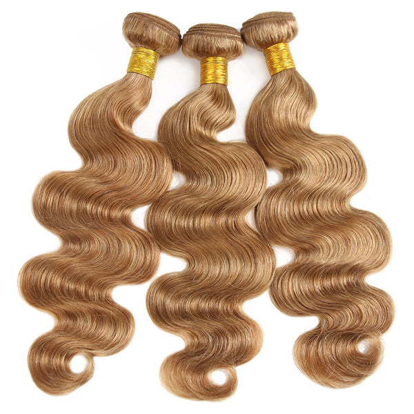 Easy Hair Body Wave Virgin Brazilian Human Hair 3 Bundles Ombre 30# Human Hair Weave - Easy Hair