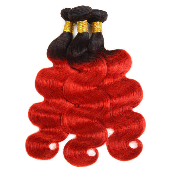 Ishow T1B/39J Peruvian Human Pre-colored Body Wave Virgin Human Hair Extensions 3 Bundles - Easy Hair