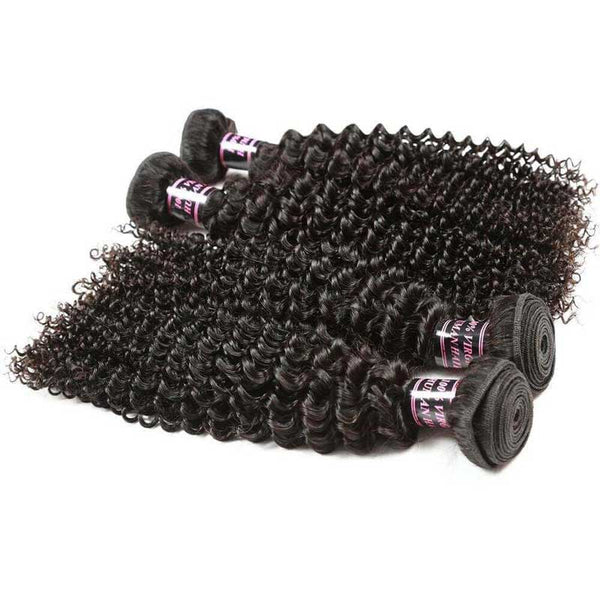 Easy Hair Hot Selling Peruvian Curly Hair Curly Human Hair Extensions 4pcs/lot - Easy Hair