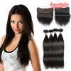 Easy Hair 10A Malaysian Straight Human Hair 4 Bundles With 13x4 Lace Frontal Closure