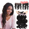 Easy Hair 10A Body Wave Indian Virgin Hair 4 Bundles With 13x4 Lace Frontal