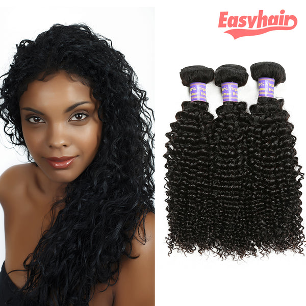 Easy Hair 10A Grade Peruvian Unprocessed Virgin Kinky Curly 3 Bundles Human Hair Weave - Easy Hair