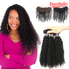 Easy Hair 10A Peruvian Curly Wave Virgin Hair 3 Bundles With 13x4 Lace Frontal