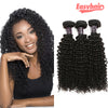 Easy Hair Malaysian Curly Hair Unprocessed Virgin Human Hair 3 Bundles Natural Color