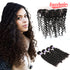 Easy Hair 10A Peruvian Deep Wave Hair 4 Bundles With Lace Frontal Closure - Easy Hair