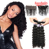 Easy Hair 10A Brazilian Deep Wave Virgin Hair 3 Bundles With 13x4 Lace Frontal
