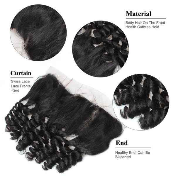 Ishow Unprocessed Malaysian 13x4 Loose Wave Lace Frontal Virgin Human Hair - Easy Hair