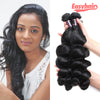 Easy Hair Indian Virgin Hair Loose Wave Human Hair Bundles 3pcs/Lot
