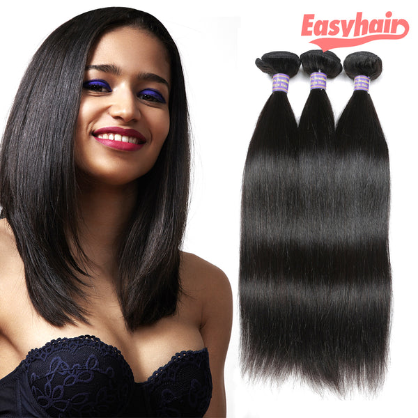 Easy Hair 10A High Quality Peruvian Virgin Hair Straight 3 Bundles Human Hair Extensions - Easy Hair