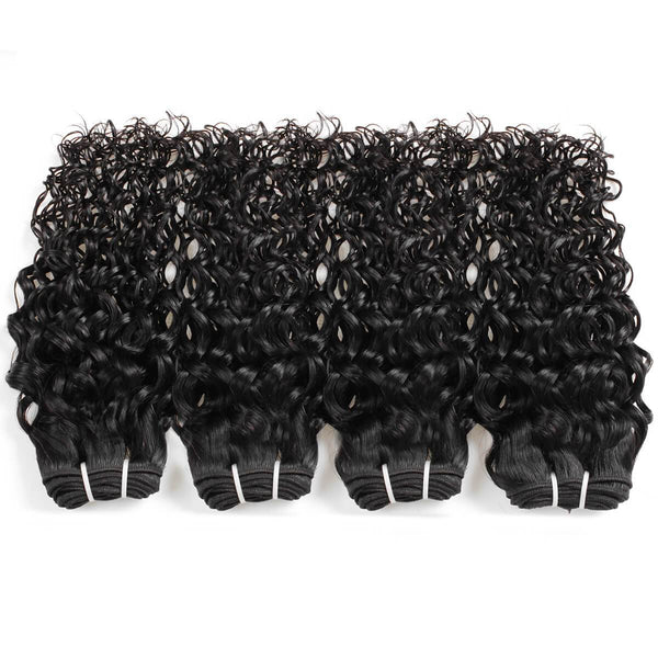 Easy Hair 10A High Quality Peruvian 100% Unprocessed Virgin Hair Water Wave 4pcs/lot Human Hair Weave Bundles - Easy Hair
