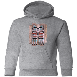 Screeching Owl, Painted Toddler Pullover Hoodie - Indigenous Arts