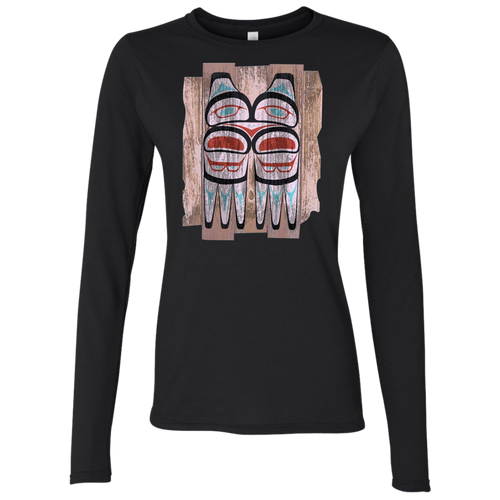 Screeching Owl, Painted Softstyle 4.5 oz. LS T-Shirt
