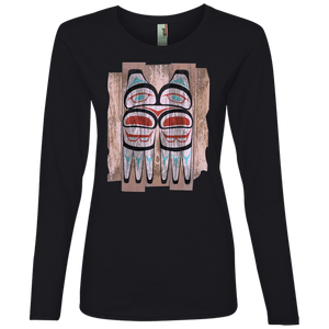 Screeching Owl, Painted Lightweight LS T-Shirt - Indigenous Arts