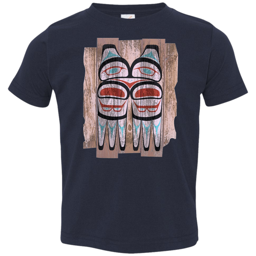 Screeching Owl, Painted Toddler Jersey T-Shirt - Indigenous Arts