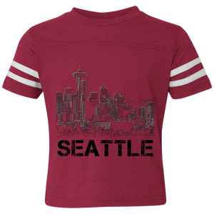 Space Needle Toddler Football Fine Jersey T-Shirt