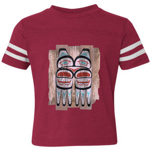 Screeching Owl, Painted Toddler Football Fine Jersey T-Shirt - Indigenous Arts