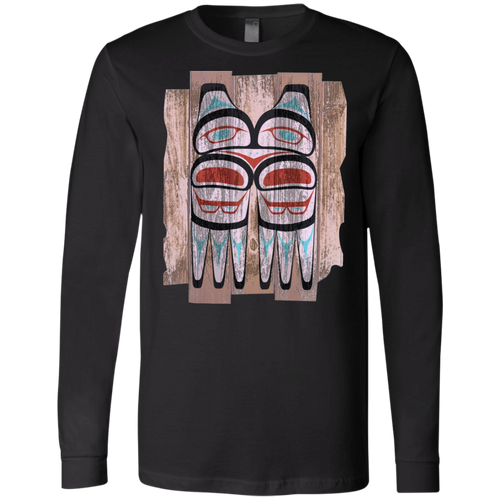 Screeching Owl, Painted Jersey LS T-Shirt - Indigenous Arts