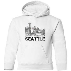 Space Needle Toddler Pullover Hoodie